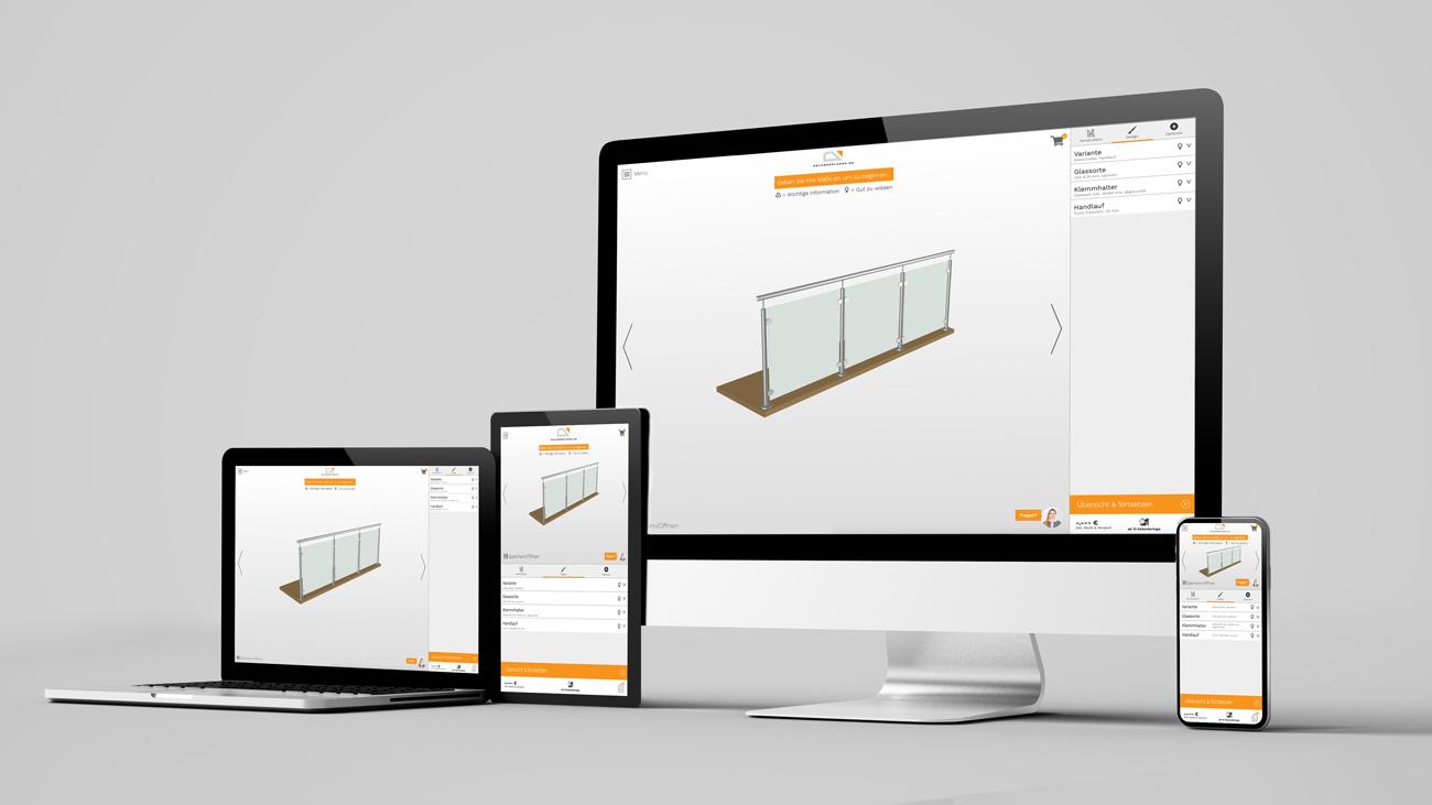 Das Designwerkzeug ist auf PC, Tablets und Mobiltelefonen einfach zu gebrauchen