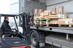 Lieferung, Ladung des LKWs, Versand, Bestellung