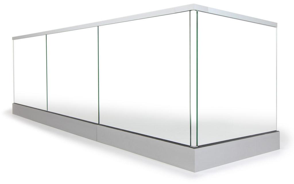 Großartig Glasgeländer aus Aluminium, Edelstahl & Ganzglas | Geländerladen.at IF08