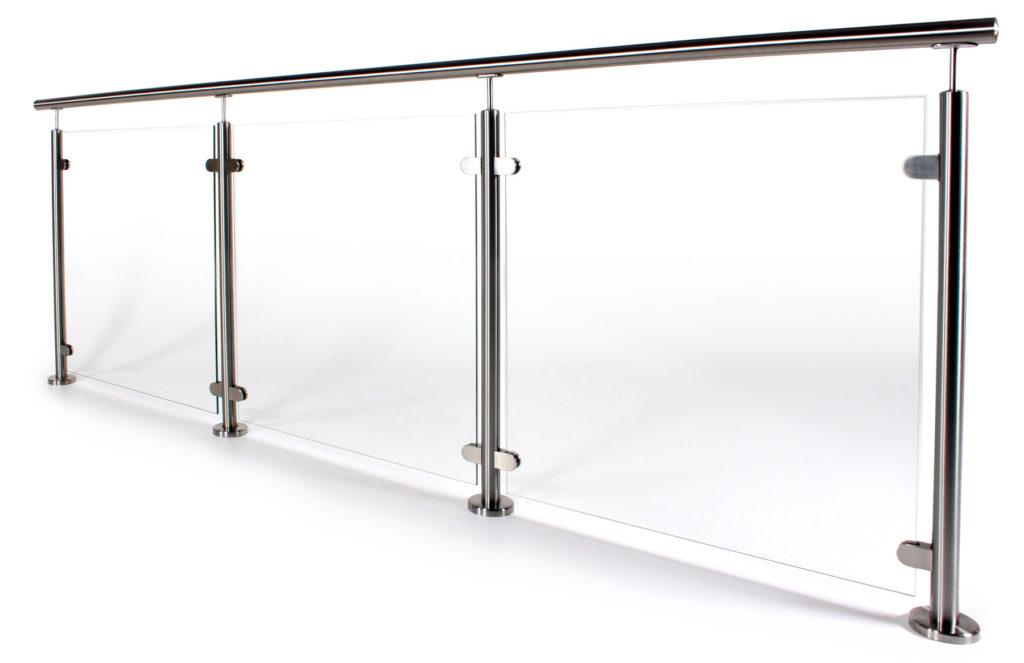 Glasgelander Aus Aluminium Edelstahl Ganzglas Gelanderladen At